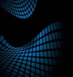 wavy blue mesh vector image vector image