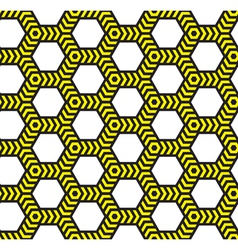 Alarm tape abstract geometric seamless pattern vector image vector image