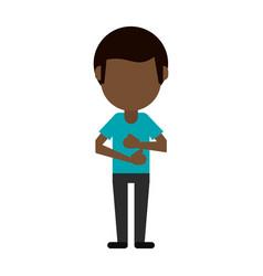 avatar of dark skin man icon image vector image vector image