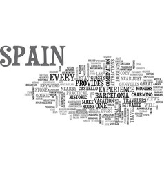 bb in spain text word cloud concept vector image vector image