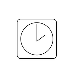 clock icon vector image