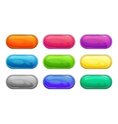 Colorful long horizontal glossy buttons vector image vector image