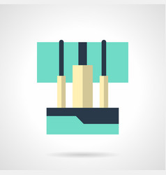 sound console flat color icon vector image