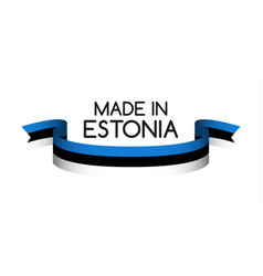 colored ribbon with the estonian tricolor vector image vector image