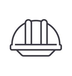 construction helmet line icon sig vector image vector image