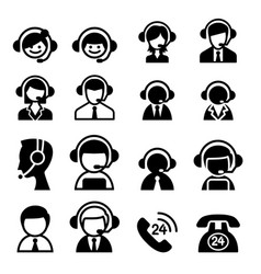 customer service icon vector image vector image