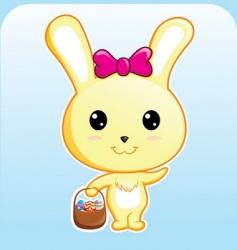 cute bunny vector image vector image