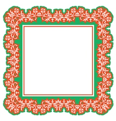 floral frame abstract vector image vector image