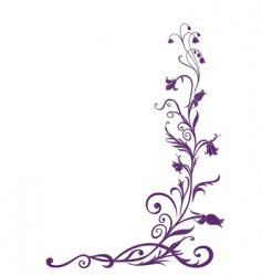 floral funky background vector image vector image