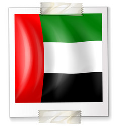 icon design for flag of arab emirates vector image vector image