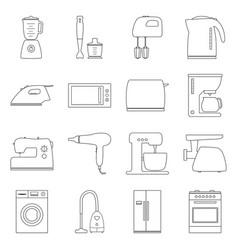 Set of home electronics appliances vector
