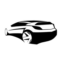 Sports car black silhouette vector image vector image