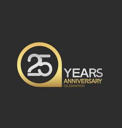25 years anniversary celebration simple design vector