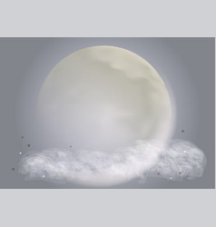 Abstract moon vector