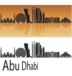 Abu dhabi v2 skyline vector