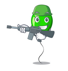 Army green balloon cartoon birthday very funny vector