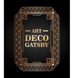 Art deco element gatsby design vector