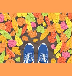 Autumn selfie background vector