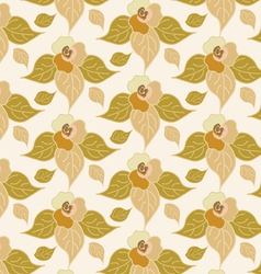beige floral seamless background vector image