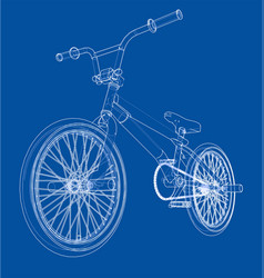 Bicycle bmx vector