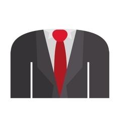 Blazer formal with shirt tie vector