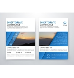 brochure design template flyer vector image