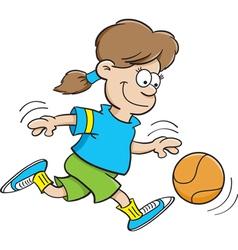 Cartoon Basketball Girl vector
