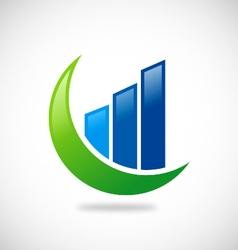 Chart finance business logo vector