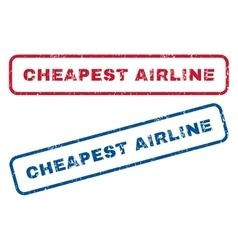 Cheapest airline rubber stamps vector