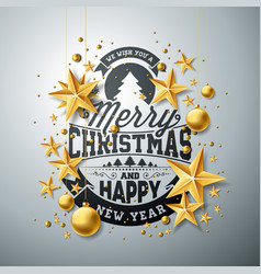 Christmas and new year with vector