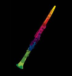 Clarinet instrument cartoon music graphic vector