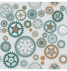 clock cogwheels pattern vector image