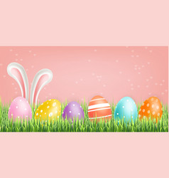 colorful easter eggs realistic spring vector image