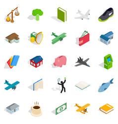 Diversity icons set isometric style vector