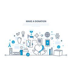 Donations help to health economic status vector