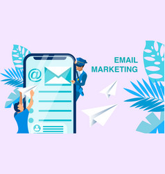 email marketing business banner concept vector image