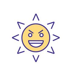 Eyes damage rgb color icon vector