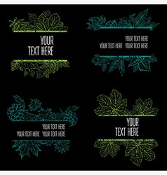floral back big set 6 grunge vector image