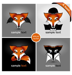 four foxes vector image vector image