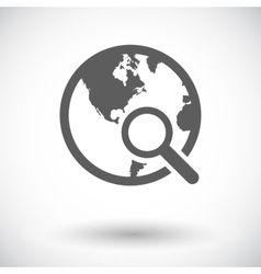 Global search single icon vector