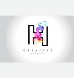 H vibrant creative leter logo design vector