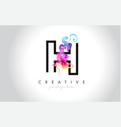 H vibrant creative leter logo design with vector