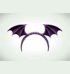 halloween band with dark bat wings vector image