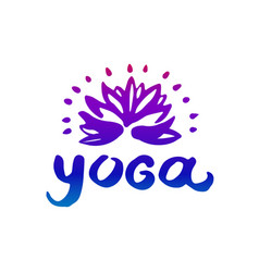 hand drawn of yoga logo vector image