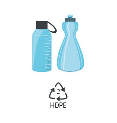 Hdpe 2 plastic type - blue high-density vector
