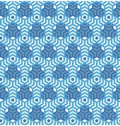 Hexagonsabstract geometric seamless pattern vector image