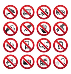 industrial prohibited symbols vector image