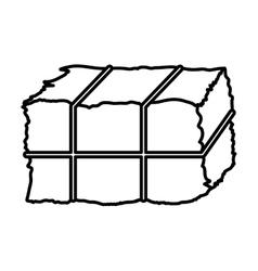 Isolated hay block design vector