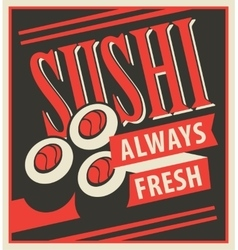 Japanese food sushi vector