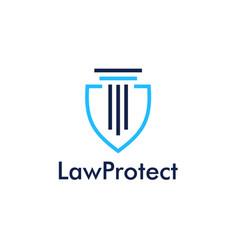 Law protect icon logo vector